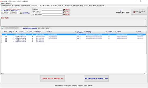 Binazap -identificador De Chamadas -2 Linhas Telefonicas