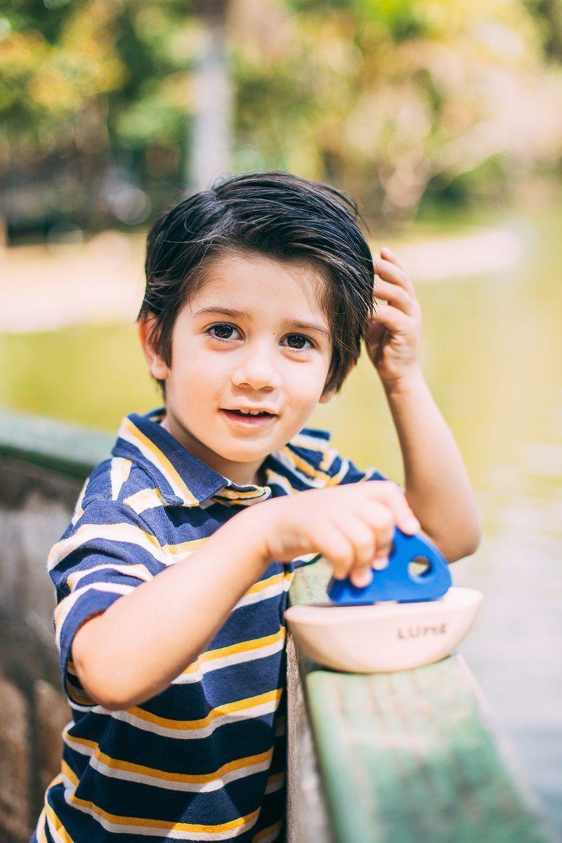Brinquedo Educativo Mini Barco de Brinquedo de Madeira