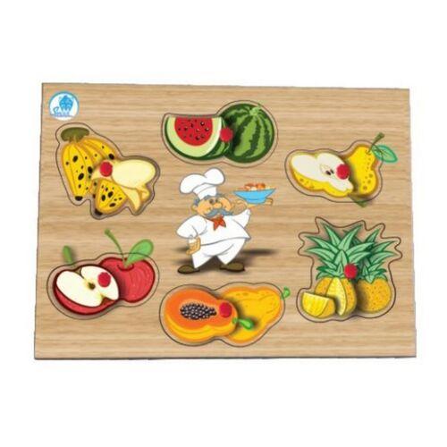 Quebra-cabeça com pinos - salada de frutas