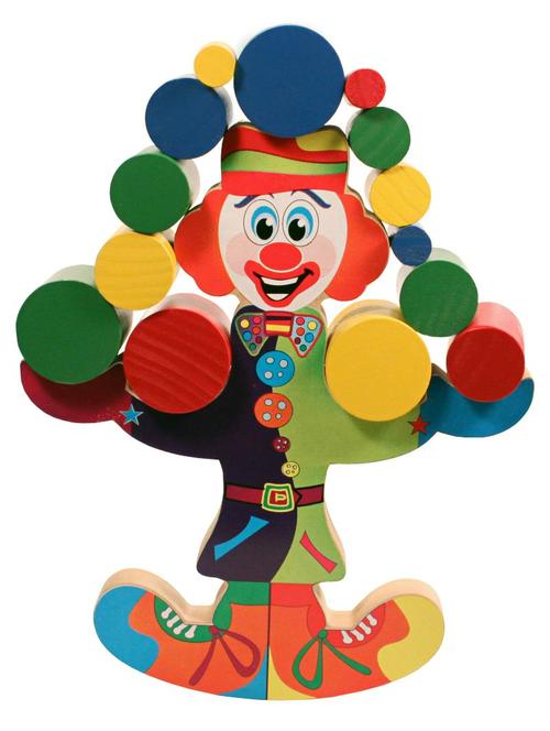 Palhaço Equilibrista - Brinquedo Educativo de Equilíbrio