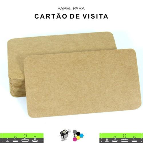 Papel no formato de Cartão de Visita