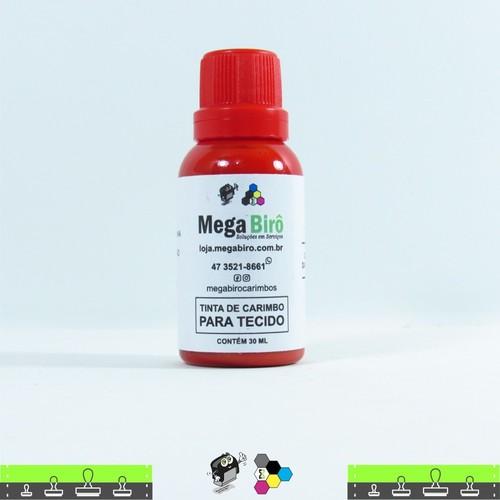 Tinta de Tecido para Carimbos - Vermelha 30 ml