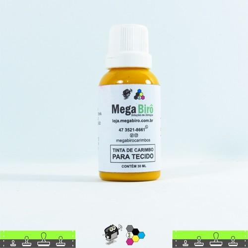 Tinta de Tecido para Carimbos - Amarela 30 ml