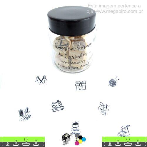 Kit com 8 Mini Carimbos - Artesã por Amor