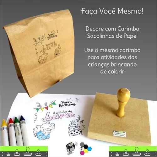Carimbo Personalizado para Festas 10x10 cm