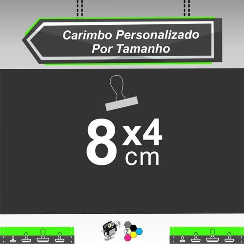Carimbo em Formato de Cartão de Visita 8x4 cm