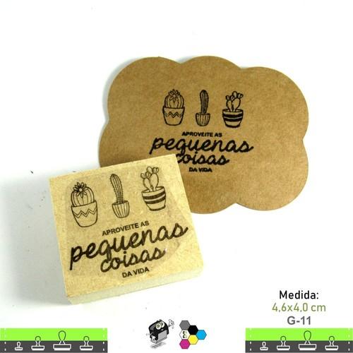 Carimbos Bonitos de Madeira, Cactos e Suculentas - G11