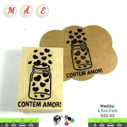 Carimbos Bonitos de Madeira, Dia das Mães - K02-02