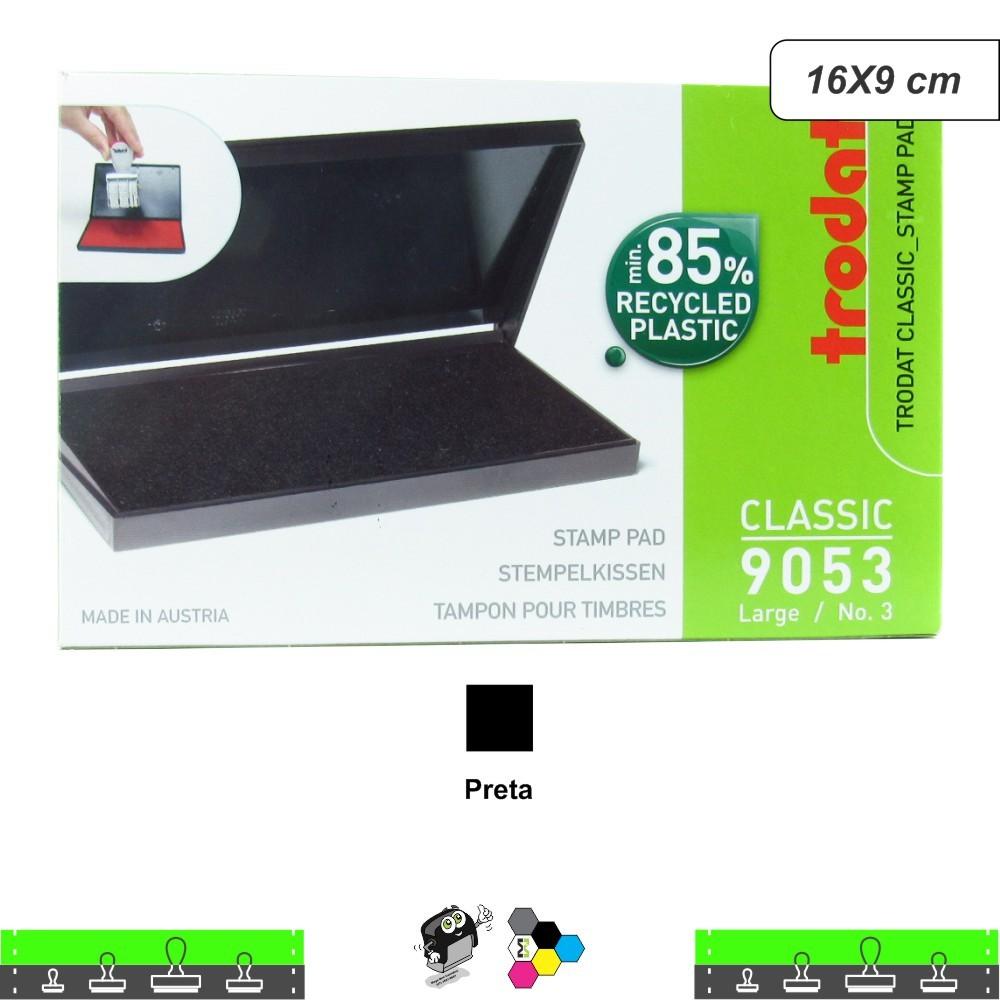 Almofada Carimbeira Alta Definição - Preta 16X9 cm Trodat 9053
