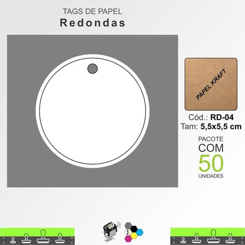 Tags Redondas - RD04