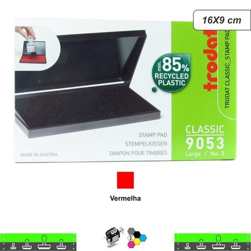 Almofada Carimbeira Alta Definição - Vermelha 16X9 cm Trodat 9053