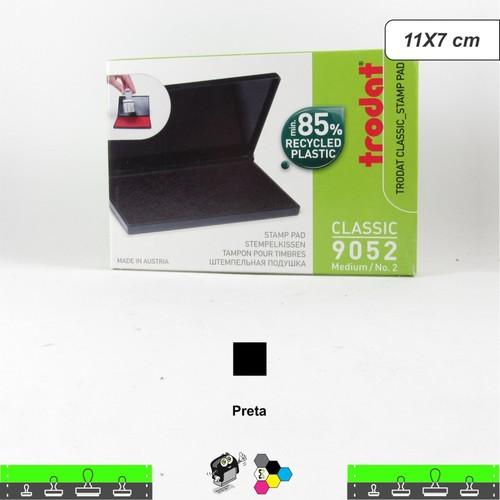Almofada Carimbeira Alta Definição - Preta 11x7 cm Trodat 9052