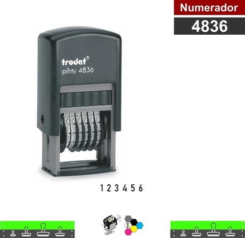 Carimbo Numerador Estreito 6 Fitas 3,8 mm - Autoentintado 4836