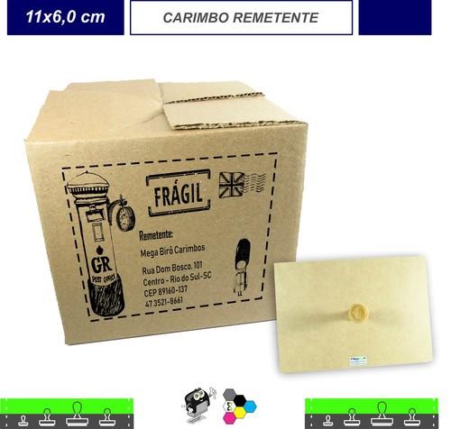 Carimbo Remetente - Para Caixas de Papelão