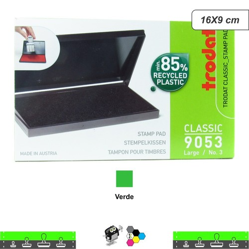 Almofada Carimbeira Alta Definição - Verde 16X9 cm Trodat 9053