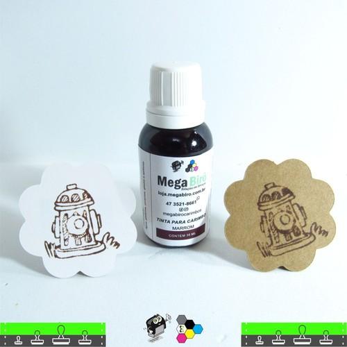 Tinta Marrom para Carimbo - 30 ml