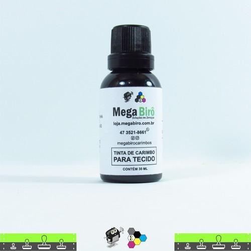 Tinta de Tecido para Carimbos - Preta 30 ml