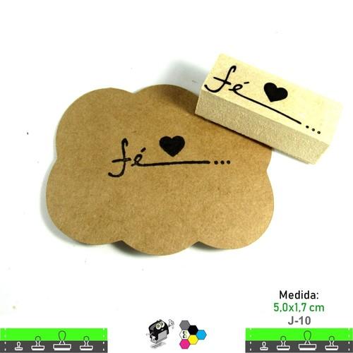 Carimbos Bonitos de Madeira, Com Mensagens - J10