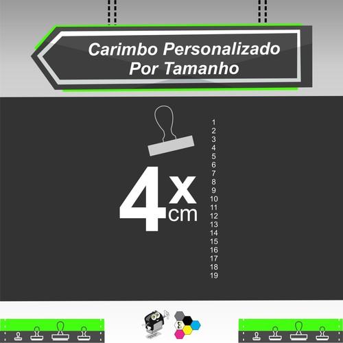 Carimbo Personalizado 4 cm