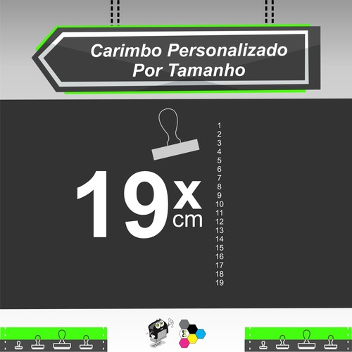 Carimbo Personalizado 19 cm