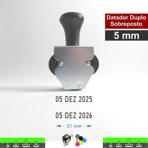 Datador manual Duplo Sobreposto 5 mm