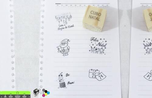 Carimbos Cubo 5x1 Tema de Natal