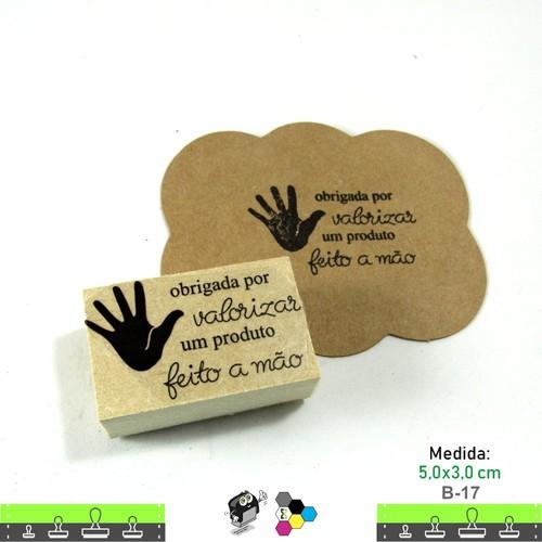 Carimbos Bonitos de Madeira, Obrigado por valorizar um produto feito a mão - B17
