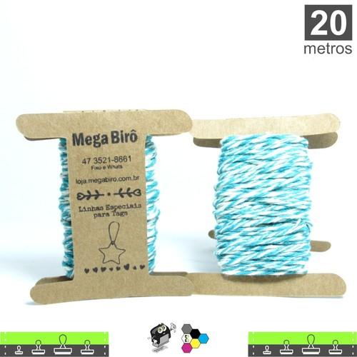 Cordão Twine Cotton Trançado para Tags - Verde