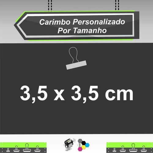 Carimbo Personalizado com 3,5x3,5 cm