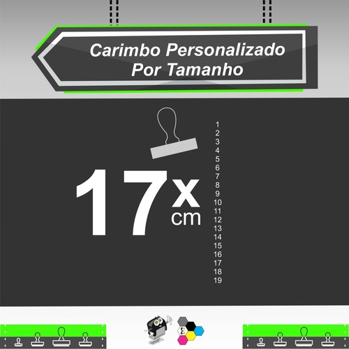 Carimbo Personalizado 17 cm