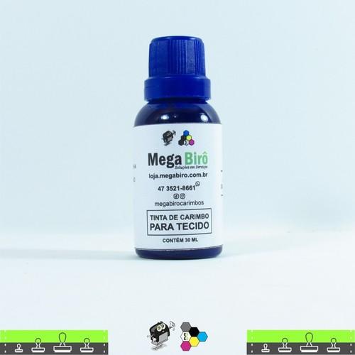Tinta de Tecido para Carimbos - Azul 30 ml