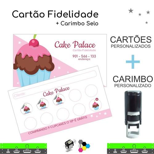 Cartão Fidelidade + Carimbo Autoentintado