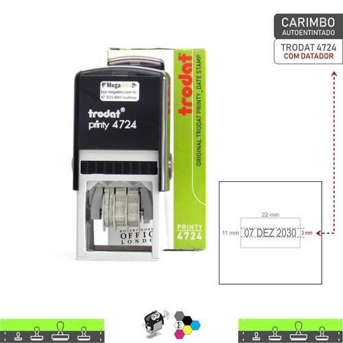 Carimbo Autoentintado TRODAT 4724 com Datador