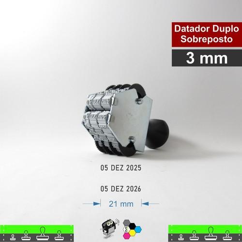 Datador manual Duplo Sobreposto - 3mm