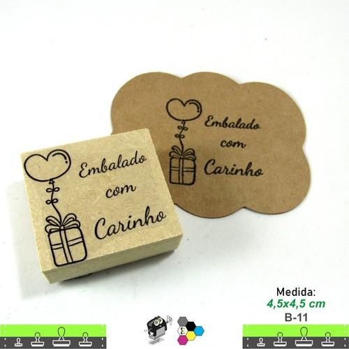 Carimbos Bonitos de Madeira, Embalado com carinho - B11