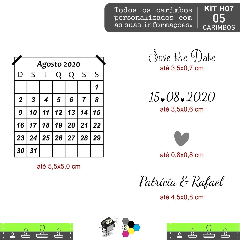 05 Carimbos Personalizados para o seu Casamento - H07
