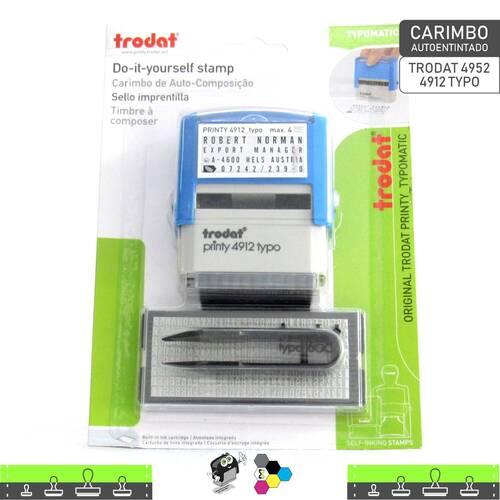 Carimbo Autoentintado TRODAT 4952 - 4912 TYPO