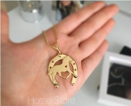 Colar Heart Horse - Ferradura