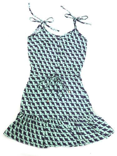 Vestido Infantil Bela Arraias - Azul
