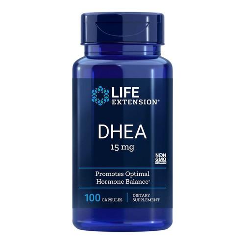 2 x DHEA 15 mg -  Life Extension - Total 200 cápsulas