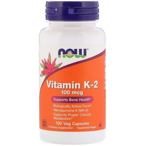 Vitamina k-2 100 mcg - Now Foods - 100 Cápsulas (Envio Internacional)