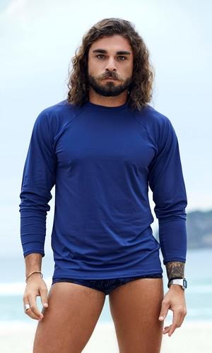 Camisa Proteção UV Azul Marinho