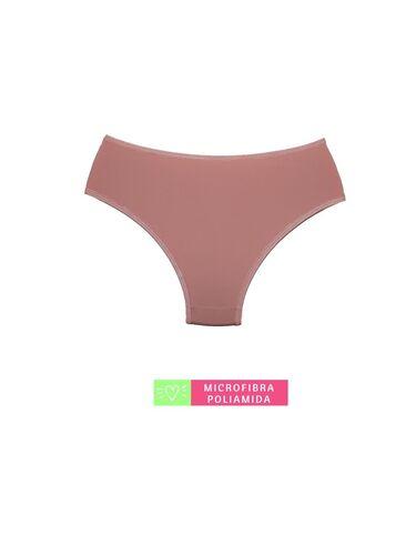 Calcinha Cintura Média Microfibra com Detalhe em Renda Rosê Romance