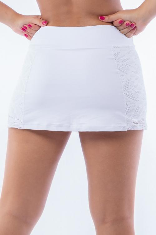 Short Saia Poliamida com Tela Caruaru Branco