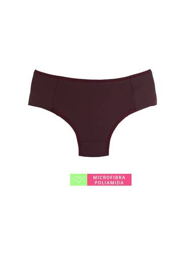 Calcinha Lateral Dupla Microfibra Conforto Rubro