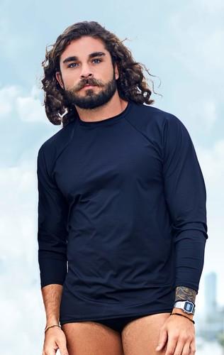 Camisa Proteção UV Masculina Preta