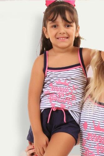 Pijama de Malha Tradicional Princesa - Listras Infantil