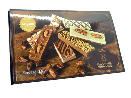 Caixa 8 Barras de Chocolate 230g