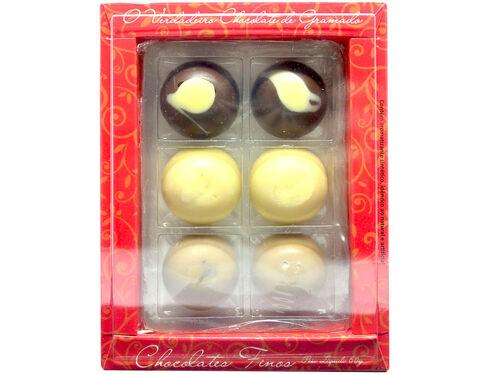 Caixa com Bombons (6, 9, 15 ou 30 un.)