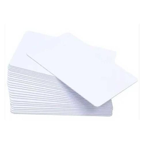 Cartão de PVC Branco Liso 76mm | Sem resina